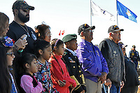 Families remember their loved ones during a Veterans Day ceremony on Wednesday at the Monterey County Vietnam Veterans Memorial in Salinas.