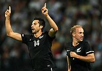 Fotball<br /> New Zealand v Slovenia<br /> Marburg Slovenia<br /> 04.06.2010<br /> Foto: Gepa/Digitalsport<br /> NORWAY ONLY<br /> <br /> FIFA Weltmeisterschaft 2010 in Suedafrika, Vorberichte, Vorbereitung, Vorbereitungsspiel, Freundschaftsspiel, Laenderspiel, Slowenien vs Neuseeland. <br /> <br /> Bild zeigt den Jubel von Rory Fallon und Simon Elliott (NZL).