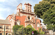 Eighteenth century church building of Iglesia de San Jacinto, Triana, Seville, Spain