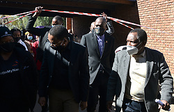South Africa - Pretoria - 14 July 2020. Dr George Mukhari Academic Hospital CEO Richard Lebethe walks Health Minister Zweli Mkhize and MEC for Health in Gauteng Bandile Masuku through the hospital during their visit to monitor state of readiness as Covid-19 cases are increasing in Gauteng and also support the staff that is working during the pandemic.<br /> Picture: Oupa Mokoena/African News Agency (ANA)