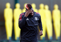 Manchester United's Paul Pogba during the training session at the AON Training Complex, Carrington.