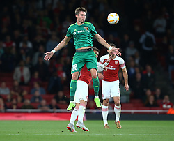 September 20, 2018 - London, England, United Kingdom - Yuriy Kolomoyets of FC Vorskla Poltava.during UAFA Europa League Group E between Arsenal and FC Vorskla Poltava at Emirates stadium , London, England on 20 Sept 2018. (Credit Image: © Action Foto Sport/NurPhoto/ZUMA Press)