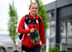 Bristol City Women arrive prior to kick-off - Mandatory by-line: Nizaam Jones/JMP - 28/04/2019 - FOOTBALL - Stoke Gifford Stadium - Bristol, England - Bristol City Women v West Ham United Women - FA Women's Super League 1