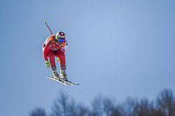 February 15, 2018 - Jeongseon, Gangwon, South Korea - Beat Feuz of Switzerland coming in number 3 in mens downhill at Jeongseon Alpine Centre at Jeongseon , South Korea on February 15, 2018. (Credit Image: © Ulrik Pedersen/NurPhoto via ZUMA Press)