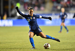 February 27, 2019 - Chester, PA, U.S. - CHESTER, PA - FEBRUARY 27: US Midfielder Carli Lloyd (10) winds up for a shot in the second half during the She Believes Cup game between Japan and the United States on February 27, 2019 at Talen Energy Stadium in Chester, PA. (Photo by Kyle Ross/Icon Sportswire) (Credit Image: © Kyle Ross/Icon SMI via ZUMA Press)
