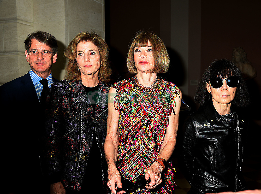 Thomas Campbell,Caroline  Kennedy,Anna Wintour and Rei  Kawakuboattends the Press Preview of Rei Kawakubo/Comme des Garcons: Art of the In-Between exhibit at The Costume Institute at the Metropolitan Museum of Art on May 1, 2017 in New York, New York, USA.  *** Please Use Credit from Credit Field ***