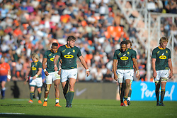 August 25, 2018. Malvinas Argentinas Stadium, Mendoza, Argentina.<br /> MALCOM MARX  and South African forwards looks concerned during the first half of the game.