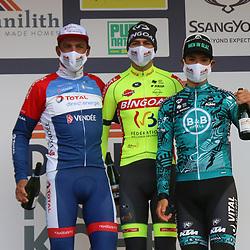 17-03-2021: Wielrennen: Nokere Koerse: Nokere<br /> Ludovic Robeet heeft Nokere Koerse achter zijn naam gezet. De 26-jarige Belg reed in de laatste twee kilometer weg bij Damien Gaudin,