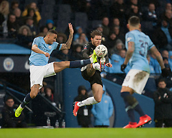 Danilo of Manchester City (L) and Jeff Hendrick of Burnley in action - Mandatory by-line: Jack Phillips/JMP - 26/01/2019 - FOOTBALL - Etihad Stadium - Manchester, England - Manchester City v Burnley - Emirates FA Cup