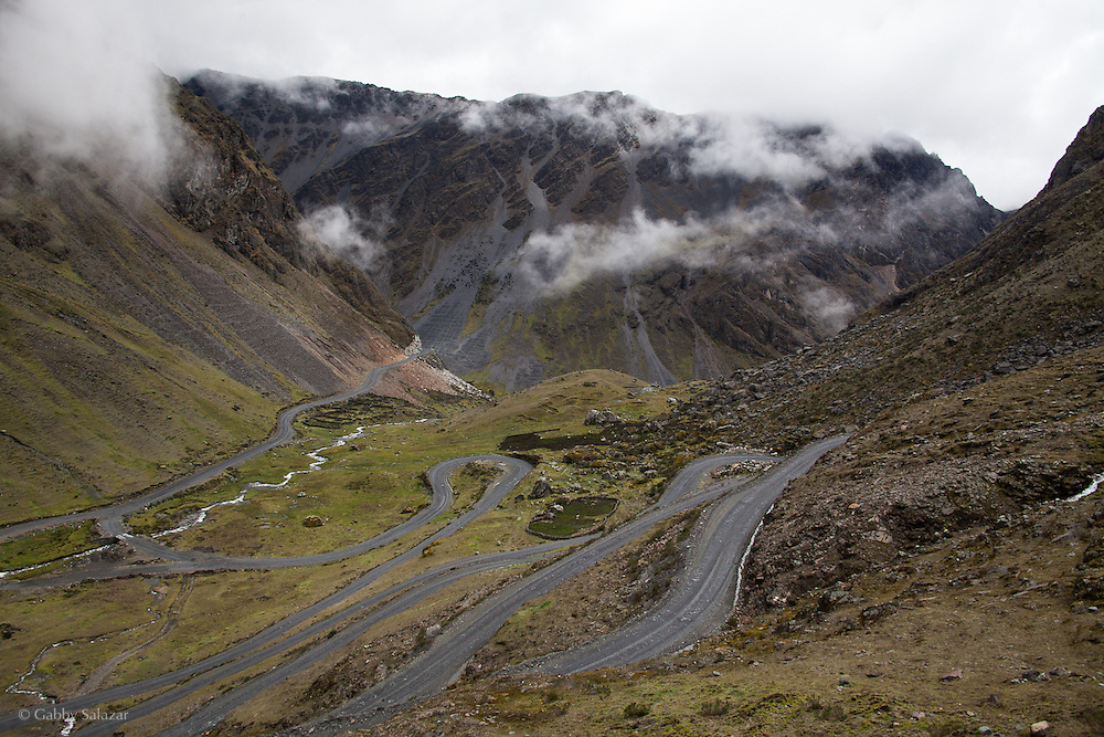 Old Interoceanic Highway between Cusco and Puerto Maldonado, Peru. A 430 kilometer section of the transcontinental Interoceanic Highway that crosses Peru and Brazil.