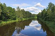 "Looking over river Gauja on bright sunny summer day, protected landscape area ""Ziemeļgauja"", Latvia Ⓒ Davis Ulands   davisulands.com"