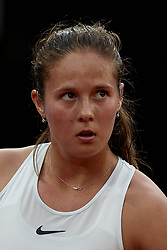 May 9, 2018 - Madrid, Madrid, Spain - Daria Kasatkina of Russia looks on in her match against Garbine Muguruza of Spain during day five of the Mutua Madrid Open tennis tournament at the Caja Magica on May 9, 2018 in Madrid, Spa  (Credit Image: © David Aliaga/NurPhoto via ZUMA Press)