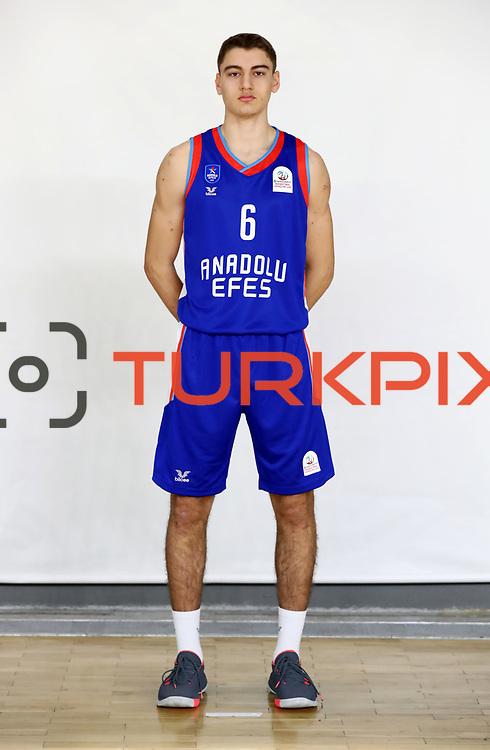 Anadolu Efes's Ozan Yilmaz during the 2020-2021 Garanti BBVA BGL Media Day at the Anadolu Efes Sports Hall on February 02, 2021 in İstanbul, Turkey. Photo by Aykut AKICI/TURKPIX