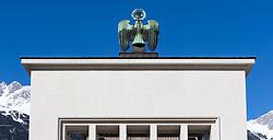 THEMENBILD - Landhausplatz Innsbruck, im Bild der Adler am Befreiungsdenkmal, Teilansicht, Bild aufgenommen am 24.02.2014. EXPA Pictures © 2014, PhotoCredit: EXPA/ JFK