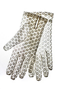 vintage white ornamental holy communion transparent gloves