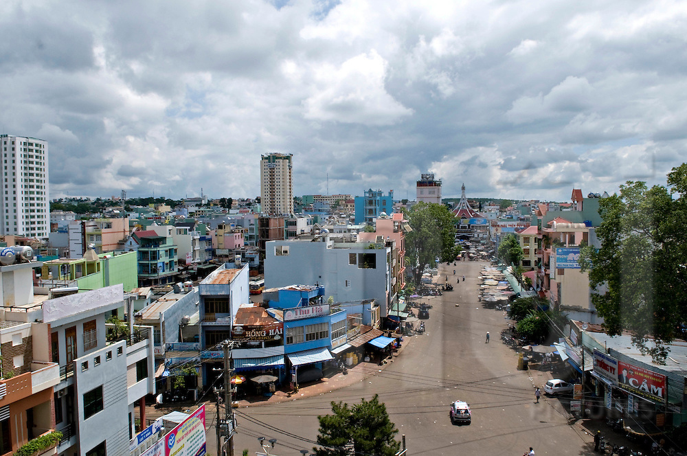 Cityscape of Pleiku, Vietnam, Southeast Asia