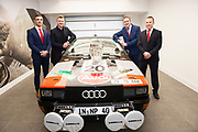 Connolly Motor Group has opened its new state-of-the-art Audi Terminal Showrooms in Ballybrit, Galway. <br /> The finishing touches have been put to the ultra-modern dealership, increasing to 35 full-time jobs, bringing the number of full-time employees at the Connolly Motor Group to over  200 with 35 of those located in Galway.<br /> Work on the new €5 million state-of-the-art dealership began just before Christmas last year and opened on Tuesday October 31st.<br /> The new 'Audi Terminal' is just a stone's throw from Connollys' former Audi Galway dealership at the Briarhill Business Park, close to the Galway Racecourse in Ballybrit. <br /> Finished to the highest spec with the most up-to-date technology, the 23,000 sq. ft. car retail facility is based around Audi's newest design concept. <br /> It is one of the most modern facilities in the country and includes the most up-to-date technology for electric vehicles with multiple power points.<br /> At the Weekend launch was Greg Lally, Joe Canning, Kevin Connolly and Kevin Broderick <br />  Photo:Andrew Downes