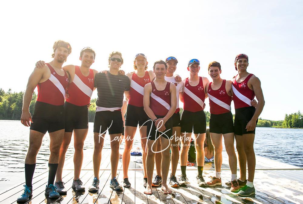 St Paul's School crew with Exeter.   ©2017 Karen Bobotas Photographer