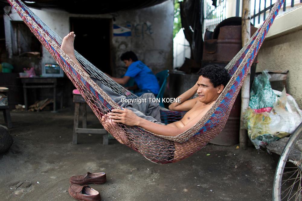 nicaraguan is resting in a hammock