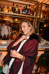 Victoria Aspinall at a party to celebrate the publication of Place by Tara Bernerd held at il Pampero at The Hari, 20 Chesham Place, London, England. 8 March 2017.