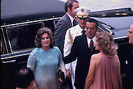 Brig  General Omar Torrijos  arrives at the OAS for the Panama Canal Treaty signing on September 7, 1977<br /> Photo by Dennis Brack