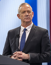 March 25, 2019 - Washington, District of Columbia, U.S. - General Benny Gantz, a candidate for Prime Minister of Israel from the Blue and White Party, speaks at the American Israel Public Affairs Committee (AIPAC) 2019 Policy Conference at the Washington Convention Center in Washington, DC on Monday, March 25, 2019  (Credit Image: © Ron Sachs/CNP via ZUMA Wire)