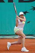 Roland Garros. Paris, France. May 29th 2007. 1st round..Virginie RAZZANO against Milagros SEQUERA.