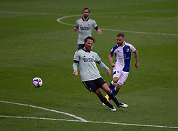 Adam Armstrong of Blackburn Rovers (R) has a shot at goal - Mandatory by-line: Jack Phillips/JMP - 03/10/2020 - FOOTBALL - Ewood Park - Blackburn, England - Blackburn Rovers v Cardiff City - English Football League Championship