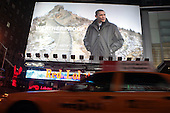 President Barack Obama featured in WeatherProof Ad in Times Square Area in NYC on January 7, 2010