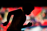 Chelsea (22) Willian during the warm up at  The FA Cup match between Chelsea and Southampton at Wembley Stadium, London, England on 22 April 2018. Picture by Sebastian Frej.
