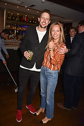 George Frost and Martha Ward at The Tribe Syndicate launch party hosted by Highclere Thoroughbred Racing at Beaufort House, 354 King's Rd, London England. 25 April 2018.