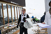 DAVID DALHUISEN, Children and Adult ski race in aid of the Knights of Malta,  Furtschellas. St. Moritz, Switzerland. 23 January 2009 *** Local Caption *** -DO NOT ARCHIVE-© Copyright Photograph by Dafydd Jones. 248 Clapham Rd. London SW9 0PZ. Tel 0207 820 0771. www.dafjones.com.<br /> DAVID DALHUISEN, Children and Adult ski race in aid of the Knights of Malta,  Furtschellas. St. Moritz, Switzerland. 23 January 2009