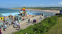 GV, general view, Arcadia, children's play area, East Strand, Portrush, Co Antrim, N Ireland, UK. 201406213170<br /> <br /> Copyright Image from Victor Patterson, 54 Dorchester Park, Belfast, UK, BT9 6RJ<br /> <br /> t1: +44 28 9066 1296 (from Rep of Ireland 048 9066 1296)<br /> t2: +44 28 9002 2446 (from Rep of Ireland 048 9002 2446)<br /> m: +44 7802 353836<br /> <br /> victorpattersonbelfast@gmail.com<br /> www.victorpatterson.com<br /> <br /> Please see my Terms and Conditions of Use at http://www.c1382010.myzen.co.uk/pdf/Terms%20&%20Conditions.pdf  It is IMPORTANT that you familiarise yourself with them.<br /> <br /> Images used on the Internet incur an additional cost and must be visibly watermarked i.e. ©Victor Patterson within the body of the image and copyright metadata must not be deleted. Images used on the Internet have a size restriction of 4kbs and are chargeable at rates available at victorpattersonbelfast@gmail.com.<br /> <br /> This image is only available for the use of the download recipient i.e. television station, newspaper, magazine, book publisher, etc, and must not be passed on to any third party. It is also downloaded on condition that each and every usage is notified within 7 days to victorpattersonbelfast@gmail.com.<br /> <br /> The right of Victor Patterson to be identified as the author is asserted in accordance with The Copyright Designs And Patents Act (1988). All moral rights are asserted.