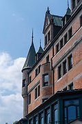 Exterior view of the Chateau Frontenac on a summer day; Quebec, Canada.