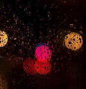 Abstract soft focus Lights on a dark night