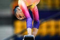 October 28, 2018 - Doha, Quatar - Lorrane Oliveira of Brazil   during  Balancing Beam qualification at the Aspire Dome in Doha, Qatar, Artistic FIG Gymnastics World Championships on 28 of October 2018. (Credit Image: © Ulrik Pedersen/NurPhoto via ZUMA Press)
