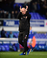 Blackpool manager Simon Grayson applauds the fans at the final whistle<br /> <br /> Photographer Chris Vaughan/CameraSport<br /> <br /> The EFL Sky Bet League One - Ipswich Town v Blackpool - Saturday 23rd November 2019 - Portman Road - Ipswich<br /> <br /> World Copyright © 2019 CameraSport. All rights reserved. 43 Linden Ave. Countesthorpe. Leicester. England. LE8 5PG - Tel: +44 (0) 116 277 4147 - admin@camerasport.com - www.camerasport.com