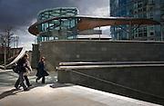 three office workers at paddington basin london