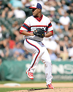 CHICAGO - AUGUST 21:  Jose Quintana #62 of the Chicago White Sox pitches against the Oakland Athletics on August 21, 2016 at U.S. Cellular Field in Chicago, Illinois.  The White Sox defeated the Athletics 4-2.  (Photo by Ron Vesely)   Subject:   Jose Quintana