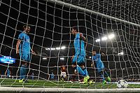 Esultanza Gol Luis Suarez con Lionel Messi e Neymar Barcelona Goal celebration <br /> Roma 16-09-2015 Stadio Olimpico Football Calcio Champions League 2015/2016 Group Stage - Group E AS Roma - Barcelona / AS Roma - Barcellona Foto Andrea Staccioli / Insidefoto