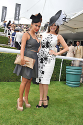 Left to right, PREEYA KALIDAS and KELLY BROOK at the 3rd day of the 2012 Glorious Goodwood racing festival at Goodwood Racecourse, West Sussex on 2nd August 2012.