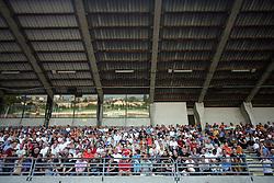 Spectators at 7th Round of PrvaLiga Telekom Slovenije between NK Interblock vs NK Nafta Lendava, on September , 2008, in ZAK stadium in Ljubljana, Slovenia. Interblock won the match 3:1. (Photo by Vid Ponikvar / Sportal Images)