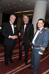 Left to right, the DUKE OF GLOUCESTER,  JERMY IRONS and TAL LAMBERT at the Soldiering On Awards 2013 held at the Park Plaza Hotel, Westminster Bridge, London SE1 on 23rd March 2013.