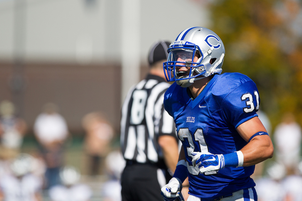 Zach Padula, of Colby College, during a NCAA Division III football game on September 27, 2014 in Waterville, ME. (Dustin Satloff/Colby College Athletics)