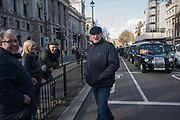 Black cab drivers demonstrating about Mayor Siddiq Khan comments and not being allowed into bus lanes, Parliament Sq. , London. 11 March 2019