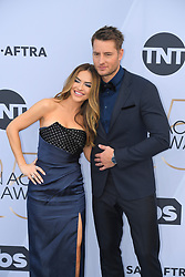 January 27, 2019 - Los Angeles, California, U.S - CHRISHELL HARTLEY AND JUSTIN HARTLEY during silver carpet arrivals for the 25th Annual Screen Actors Guild Awards, held at The Shrine Expo Hall. (Credit Image: © Kevin Sullivan via ZUMA Wire)