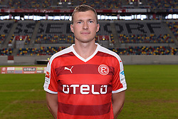 02.07.2015, Esprit Arena, Duesseldorf, GER, 2. FBL, Fortuna Duesseldorf, Fototermin, im Bild Oliver Fink ( Fortuna Duesseldorf / Portrait ) // during the official Team and Portrait Photoshoot of German 2nd Bundesliga Club Fortuna Duesseldorf at the Esprit Arena in Duesseldorf, Germany on 2015/07/02. EXPA Pictures © 2015, PhotoCredit: EXPA/ Eibner-Pressefoto/ Thienel<br /> <br /> *****ATTENTION - OUT of GER*****
