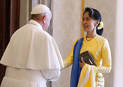 Pope Francis Meets Aung San Suu Kyi at the Vatican  (Credit Image: © Evandro Inetti via ZUMA Wire)