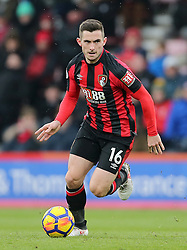 """AFC Bournemouth's Lewis Cook  during the Premier League match at the Vitality Stadium, Bournemouth. PRESS ASSOCIATION Photo. Picture date: Saturday March 17, 2018. See PA story SOCCER Bournemouth. Photo credit should read: Mark Kerton/PA Wire. RESTRICTIONS: EDITORIAL USE ONLY No use with unauthorised audio, video, data, fixture lists, club/league logos or """"live"""" services. Online in-match use limited to 75 images, no video emulation. No use in betting, games or single club/league/player publications."""