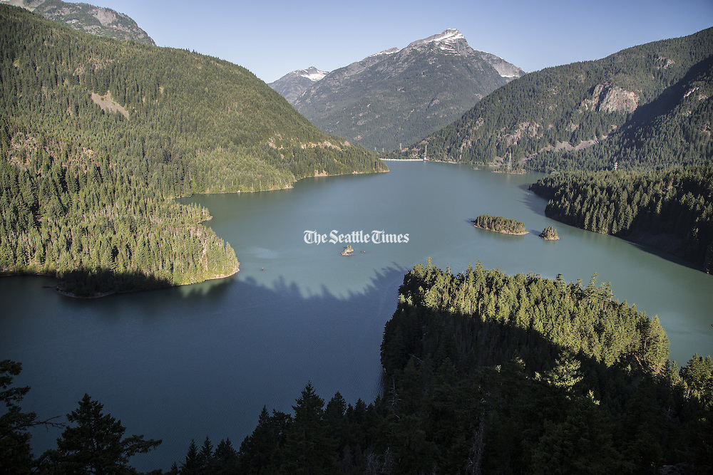 Diablo Lake shot at sunrise from the overlook on Highway 20. (Steve Ringman / The Seattle Times)
